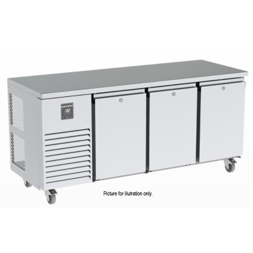 PRECISION MCU 311-UTTT - 3 Solid Doors Undercounter Refrigerator with 3 Banks of 3 Drawers