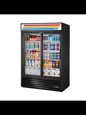 TRUE GDM-47-LD Sliding Glass Door Refrigerated Merchandiser with LED Lighting