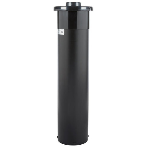 SAN JAMAR C2410 EZ-Fit In-Counter 8 - 46 oz. Cup Dispenser with White Gasket