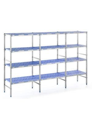 PLE 1796- 4 Tier Polypropylene shelves 1750mmH