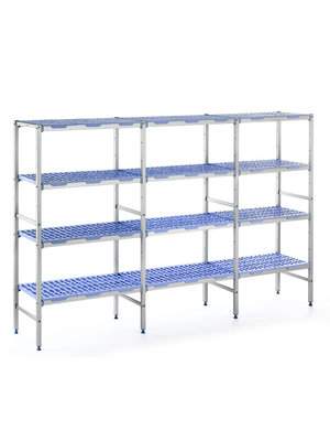 TOURNUS PLE 1796- 4 Tier Polypropylene shelves 1750mmH