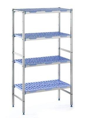 TOURNUS PLE 0890 Anodized Aluminum Shelving 4 tier