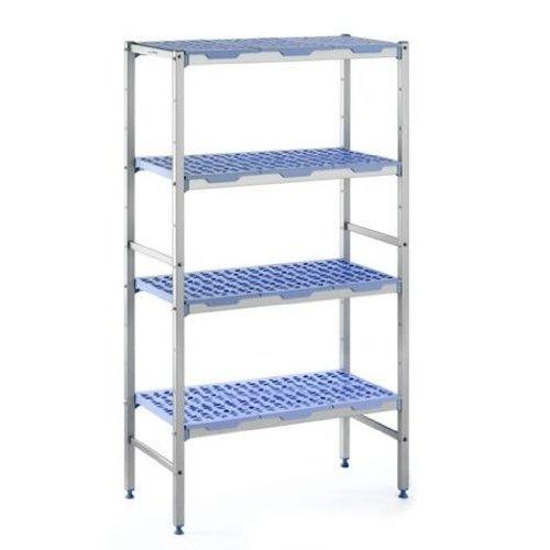 PLE 0890 Anodized Aluminum Shelving 4 tier