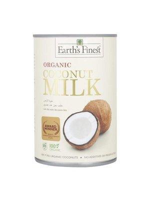 EARTH'S FINEST Organic Coconut Milk (1 Case of 12 Packs) 400 ml