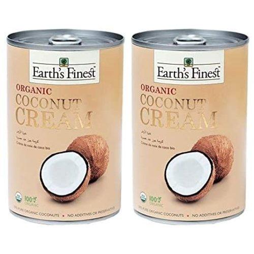 EARTH'S FINEST Organic Coconut Cream (1 case of 12 packs) 400 ml