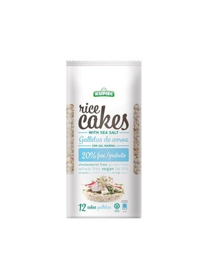 KUPIEC Rice Cakes With Sea Salt  (1 case of 16) 120 gms