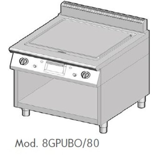 Ambach 8GPUBO/80 - Gas Solid Top Range on Lower Section Open