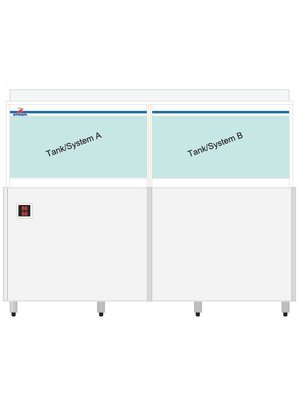 AUSTMARINE MC6 DUAL - Live Seafood Holding and Display Tanks with Dual Temperature, 80 kgs