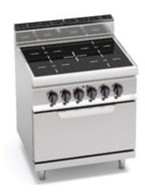 BERTO'S E7P4/VTR+FE - 4-Zone Infrared Top with 2/1 Electric Oven