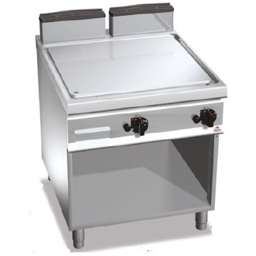 BERTO'S SG9FL8M-2/CPD - Freestanding Smooth Gas Griddle (Compound) on Cabinet