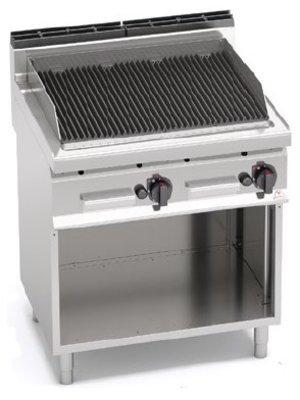 BERTO'S PLG80M/G - Freestanding Lava Stone Grill, 700 mm Depth