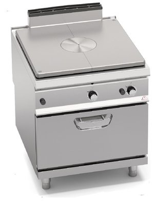 BERTO'S SG9TP+FG - Gas Solid Top on 2/1 Gas Oven