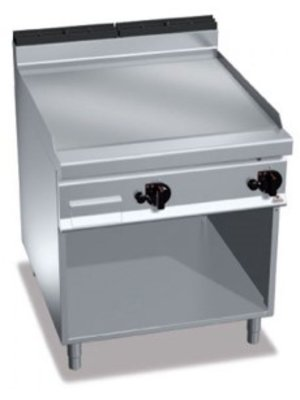 BERTO'S G9FL8M-2/CR - Double Gas Smooth Chromium Plate Fry Top