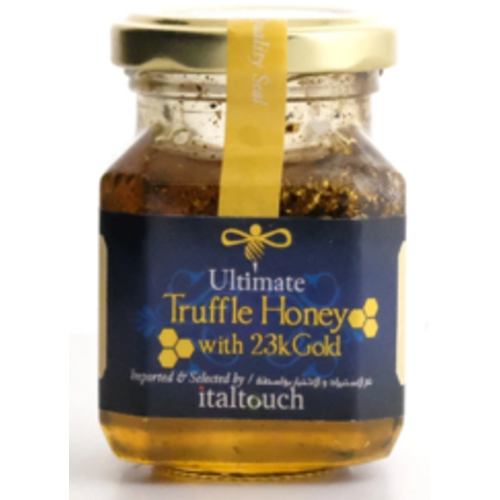 ITALTOUCH Ultimate Acacia Truffle Honey with 23KT Gold Flakes 120 Grams