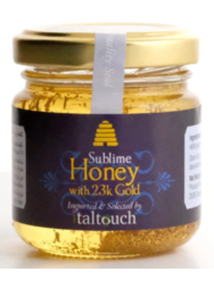 ITALTOUCH Sublime Acacia Honey with 23KT Gold Flakes 120 Grams