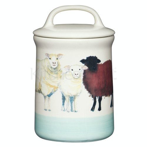 KITCHENCRAFT Apple Farm Sheep Coffee Canister Stoneware - 1 PC