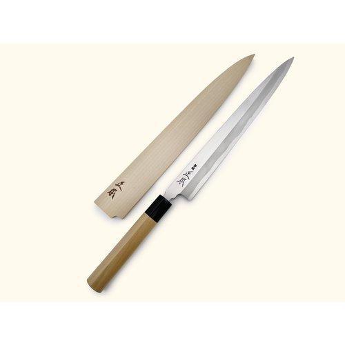 MASAMOTO SOHONTEN White Steel #2 Shiro-Ko Kasumi Yanagi 240mm