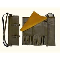 Vegan Leather Knife Bag Olive Green