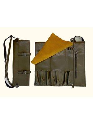 KUTO Vegan Leather Knife Bag Olive Green