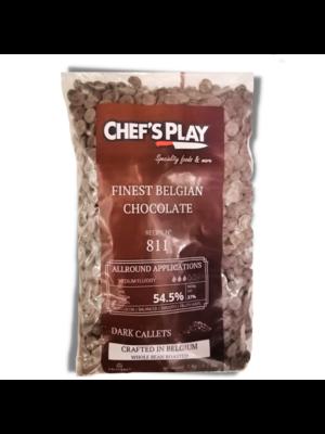 CALLEBAUT  Belgium 1kg callets of 811. Standard semi sweet dark chocolate. Basic viscosity. Cocoa min 54.5 %
