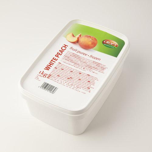 CROP'S FRUIT PUREE WHITE PEACH (1KG) FROZEN