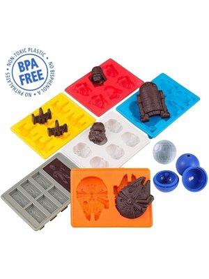 MoldyfunUSA Silicone Star Wars Mold Set-6 Ice Trays & 1 round mold