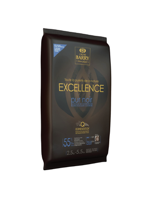 CACAO BARRY Dark Chocolate 55%, EXCELLENCE - 2.5kg Block (France)
