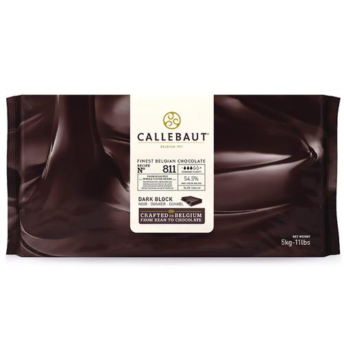 CALLEBAUT  Dark Chocolate 54.5%, 811 - 5kg Block (Belgium)
