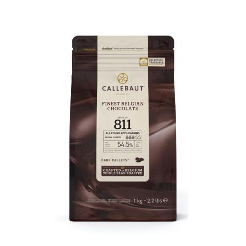 CALLEBAUT  Dark Chocolate 54.5%, 811 - 1kg Coins (Belgium)