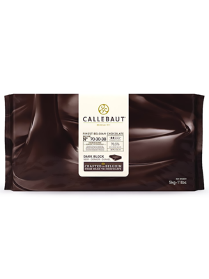 CALLEBAUT  Dark Chocolate 70%, 70-30-38 - 5kg Block (Belgium)