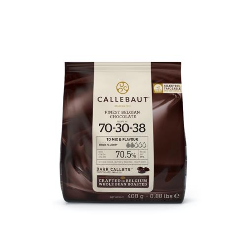 CALLEBAUT  Dark Chocolate 70%, 70-30-38 - 400Gr Coins (Belgium)