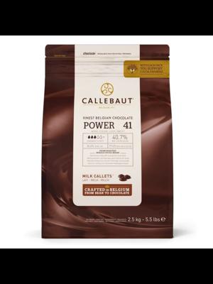 CALLEBAUT  Milk Chocolate 40.70%, POWER 41 - 2.5kg Coins (Belgium)