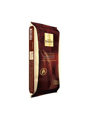 CACAO BARRY White Chocolate 29%, BLANC SATIN - 2.5kg Blocks (Belgium)