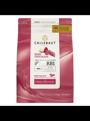CALLEBAUT  RUBY Chocolate 47.3%, 2.5kg Coins (Belgium)