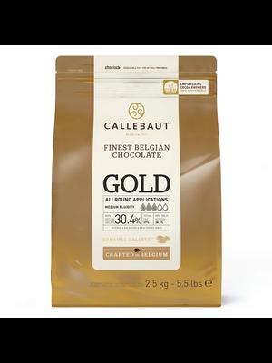 CALLEBAUT  Speciality Chocolate 30.4%, GOLD - 2.5kg Coins (Belgium)