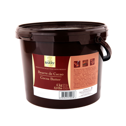 CACAO BARRY CACAO BUTTER - 4kg Bucket (France)