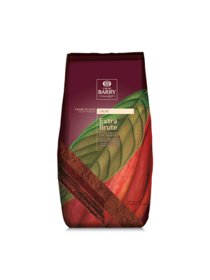 CACAO BARRY 100% Pure Cocoa Powder 22-24%, EXTRA BRUTE - 2.5kg Bag (France)