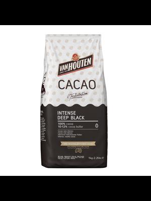 VAN HOUTEN 100% Cocoa 10-12%, INTENSE DEEP BLACK (Sweden) 1kg Bag