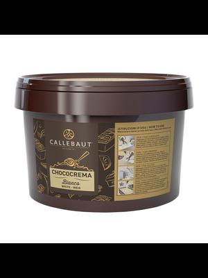 CALLEBAUT  Sauce-Like Rich Cream CHOCOCREMA BIANCO 5% White Chocolate - 3kg Bucket (Belgium)
