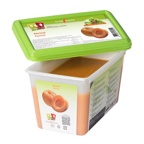 CAPFRUIT Frozen Fruit Puree APRICOT 10% added sugar - 1kg Tub (France)