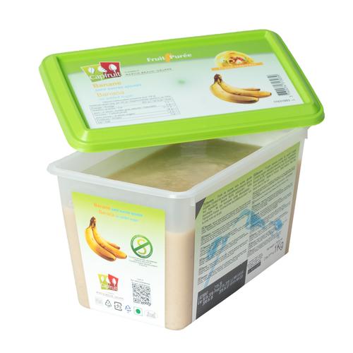 CAPFRUIT Frozen Fruit Puree BANANA no added sugar - 1kg Tub (France)