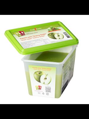 CAPFRUIT Frozen Fruit Puree GREEN APPLE GRANNY SMITH 10% added sugar - 1kg Tub (France)
