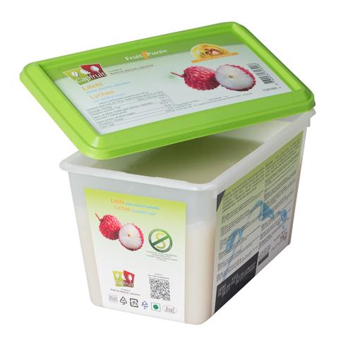 CAPFRUIT Frozen Fruit Puree LYCHEE no added sugar - 1kg Tub (France)