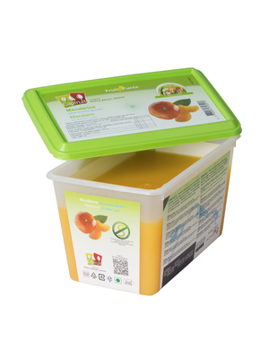 CAPFRUIT Frozen Fruit Puree MANDARIN no added sugar - 1kg Tub (France)