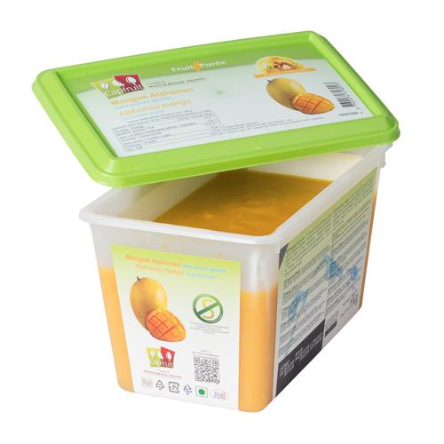 CAPFRUIT Frozen Fruit Puree MANGO ALPHONSO no added sugar - 1kg Tub (France)