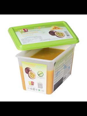 CAPFRUIT Frozen Fruit Puree PASSION FRUIT no added sugar - 1kg Tub (France)