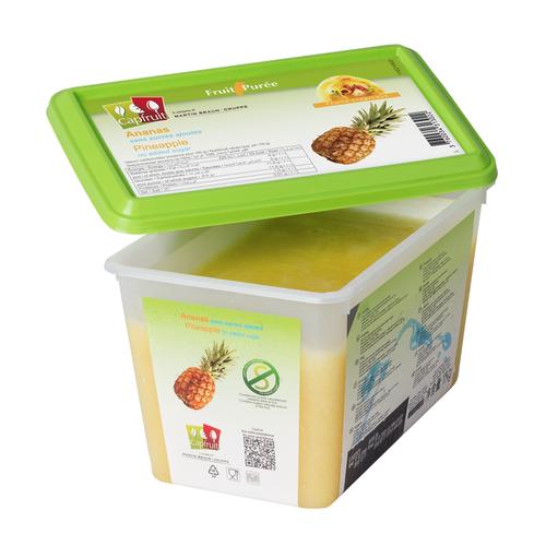 CAPFRUIT Frozen Fruit Puree PINEAPPLE no added sugar - 1kg Tub (France)