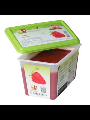 CAPFRUIT Frozen Fruit Puree STRAWBERRY 10% added sugar - 1kg Tub (France)