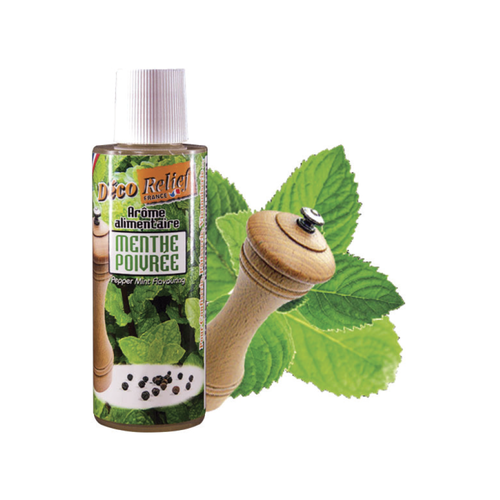 DECO RELIEF Concentrated Aroma PEPPER MINT - 125ml bottle (France)
