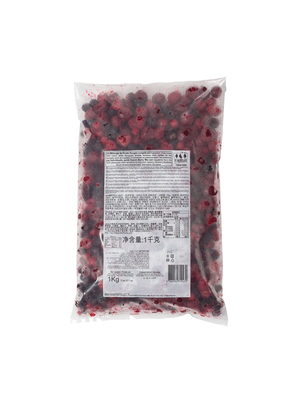 CAPFRUIT Individually Quick Frozen (IQF) Fruit RED FRUITS - 1kg Bag (France)